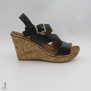 b.o.c Schirra Asymmetrical Strap High Wedge Sandal